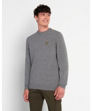Lyle & Scott Crew Neck Lambswool Blend Sweater In Mid Grey Marl - KN921VF