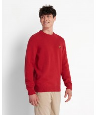Lyle & Scott Crew Neck Lambswool Blend Sweater In Chilli Pepper Red - KN921VF