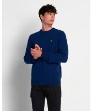 Lyle & Scott Crew Neck Lambswool Blend Sweater In Indigo Marl - KN921VF