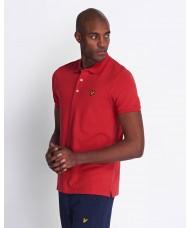 Lyle & Scott Plain Polo Shirt In Pepper Red - SP400VTR