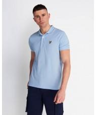 Lyle & Scott Plain Polo Shirt In Pastel Blue - SP400VTR