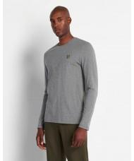 Lyle & Scott Long Sleeve Crew Neck T-Shirt In Mid Grey Marl - TS512V