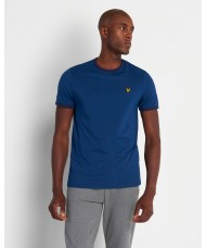 Lyle & Scott Crew Neck Ringer T Shirt In Indigo Blue & Navy - TS705V