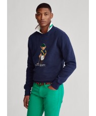 Polo Ralph Lauren Riding Bear Sweatshirt In Navy Blue