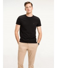 Tommy Hilfiger Stretch Slim Fit T Shirt In Black - Style 867896625 083