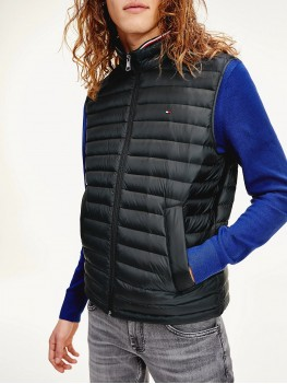 Tommy Hilfiger Quilted Down Packable Gilet In Black MW0MW12719