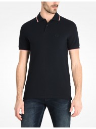 Armani Exchange Navy Blue Tipped Polo 8NZF75