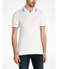 Armani Exchange White Tipped Polo  - 8NZF75
