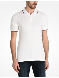 Armani Exchange White Tipped Polo 8NZF75