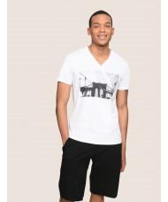 Armani Exchange Bridgescape Print T-Shirt - 3ZZTAK ZJH4Z