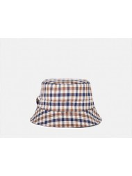 Aquascutum Reversible Bucket Hat - Navy / Classic Club Check