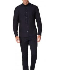Aquascutum Bevan Classic Oxford Shirt In Navy Blue - HLAA 17W AYHM NVY