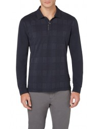Aquascutum Leon Linea Check Polo In Navy SKU#: TGAE17WBCGC
