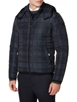 Aquascutum Bronx Puffa Jacket In Navy - BLAD17WBEGM