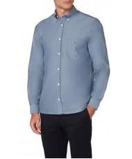 Aquascutum Bevan Classic Oxford Shirt In Sky Blue - HLAA 17W AYHM BLU