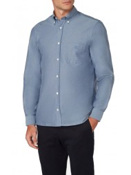 Aquascutum Bevan Classic Oxford Shirt In Sky Blue - HLAA 17W AYHM BLU