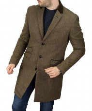 Cavani Kingston Tan Overcoat