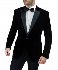 Cavani Rosa Black Velvet Blazer