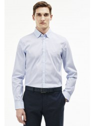 Lacoste Slim Fit Shirt With Polka Dots & Stripes  - Blue & White - CH9616 00 1ZZ