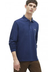 Lacoste classic fit long-sleeve polo in marl petit piqué - Anchor Chine - L1313 00 ACC