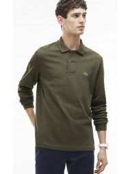Lacoste classic fit long-sleeve polo in marl petit piqué - Aventurine Chine - L1313 00 SVG