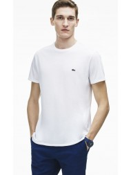 Lacoste regular fit pima cotton crew neck t-shirt in white- TH6709 00 001