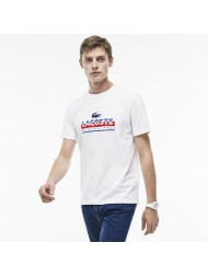 Lacoste Men's Crew Neck Lettering Print Jersey T-Shirt TH6996-00