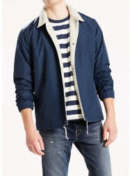 Levi's Sherpa Coach's Jacket In Navy Blue - Style # 35474-0000