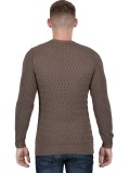 "Luke ""Long Horn"" Men's Knitted Jumper In Mushroom - M400603"
