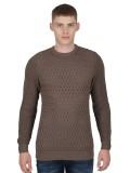 """Luke """"Long Horn"""" Men's Knitted Jumper In Mushroom - M400603"""