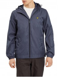 Lyle and Scott  Zip Through Hooded Marl Jacket In Ink Blue Marl- JK512V