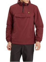 Lyle and Scott Pull Over Anorak In Dark Red - JK606V