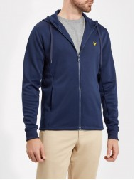 Lyle and Scott Full Zip Hooded Tricot Jacket - Navy Blue - ML705V