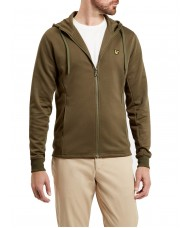 Lyle and Scott Full Zip Hooded Tricot Jacket - Olive - ML705V