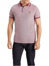 Lyle & Scott  Oxford Polo Shirt In Dark Red - SP509V