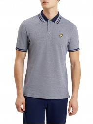 Lyle & Scott  Oxford Polo Shirt In Navy Blue - SP509V