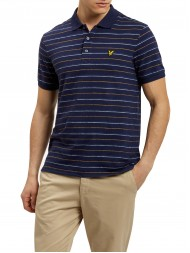 Lyle & Scott Jersey Fabric Pick Stitch Polo Shirt In Navy Blue - SP702V