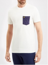 Lyle & Scott Crew Neck  T Shirt With Contrast Pocket - Off White - TS720V