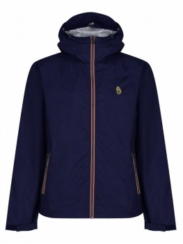 "Luke ""Raleighs"" Navy Windbreaker Jacket In Lightweight Nylon - ZM310751"