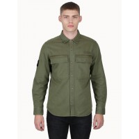 "Luke ""Noir"" Military Heavy Weight Shirt - Khaki Green - M400913"