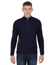 "Luke ""Spout"" Men's Overhead Funnel Neck Knit Half Zip Sweater - M400611"