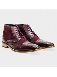 Goodwin Smith Crawshaw Two Tone Bordo Brogue Boot