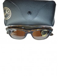 Ray-Ban New Wayfarer - Shiny Avana Frame With Brown Lens- RB2132 710 52 18 3N