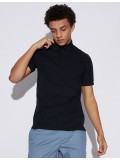 Armani Exchange Navy Blue Polo Shirt With Concealed Placket - 8NZF91-ZJ81Z