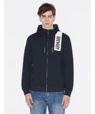 Armani Exchange Hooded Full Zip Sweatshirt In Navy - 3GZMAQ-ZJ5CZ