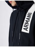 Armani Exchange Hooded Full Zip Sweatshirt In Navy - 3GZMAQ-ZJ5CZ
