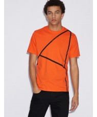 Armani Exchange T-Shirt With Print In Orange 3GZTFN-ZJV5Z