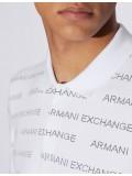 Armani Exchange White Polo With Logo Lettering - 3GZFAE-ZJU3Z