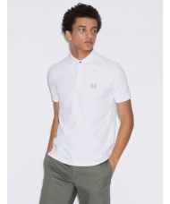 Armani Exchange White Polo Shirt With Concealed Placket - 8NZF91-ZJ81Z