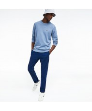 Lacoste Men's Crew Neck Cotton Jersey Sweater In Pale blue - AH3467-00